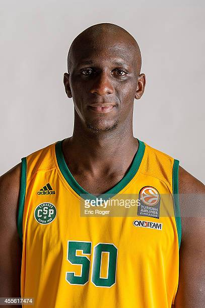 Lamine Kante #50 of Limoges CSP poses during the Limoges CSP 2014/2015 Turkish Airlines Euroleague Basketball Media Day at Beaublanc on September 10...