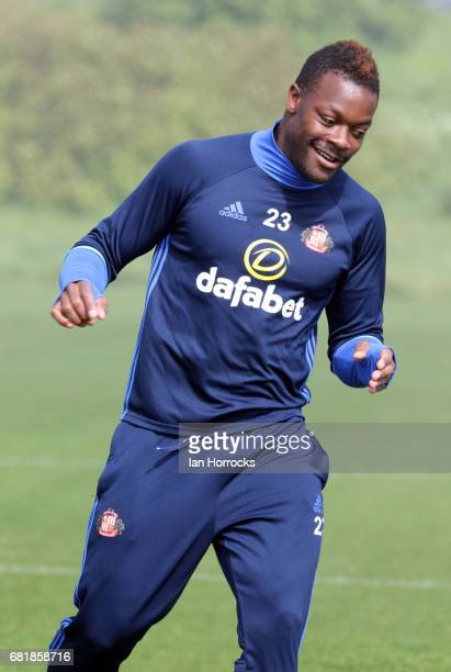 Lamine Kone during a SAFC training session at The Academy of Light on May 11 2017 in Sunderland England