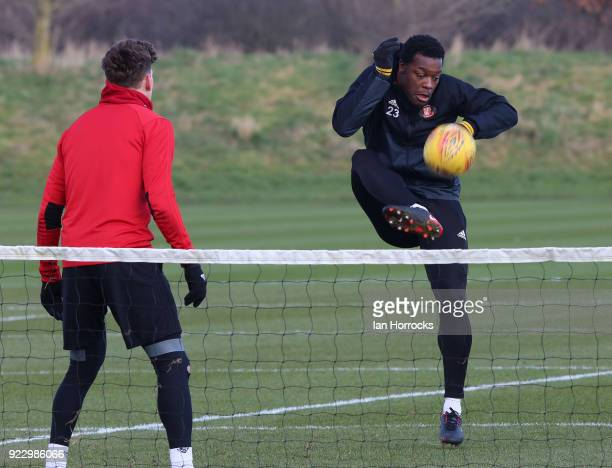 Lamine Kone during a training session at The Academy of Light on February 22 2018 in Sunderland England