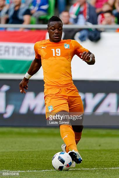 Lamine Kone of Ivory Coast controls the ball during the International Friendly match between Hungary and Ivory Coast at Groupama Arena on May 20 2016...