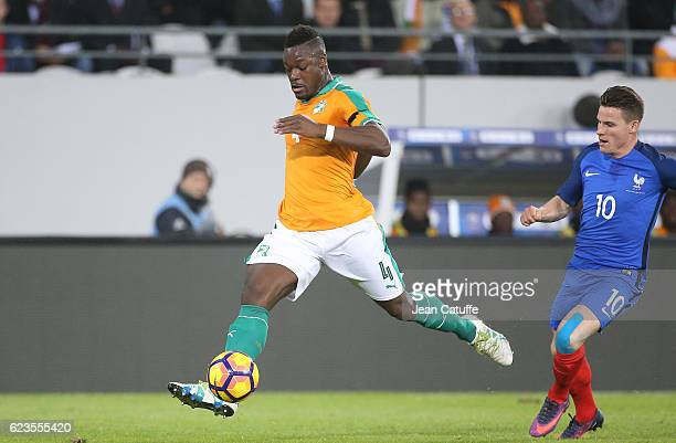 Lamine Kone of Ivory Coast in action during the international friendly match between France and Ivory Coast at Stade Felix Bollaert Delelis on...