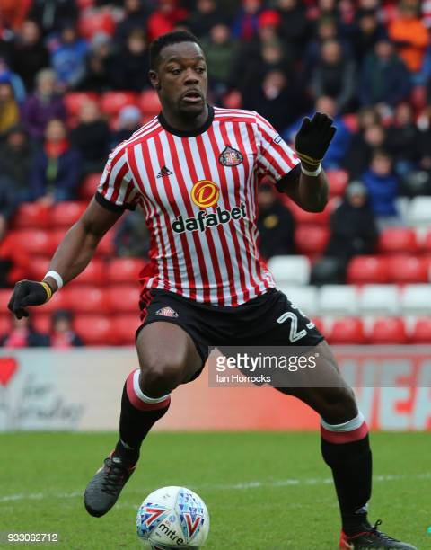 Lamine Kone of Sunderland during the Sky Bet Championship match between Sunderland and Preston North End at Stadium of Light on March 17 2018 in...