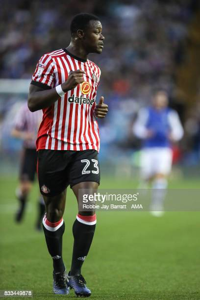 Lamine Kone of Sunderland during the Sky Bet Championship match between Sheffield Wednesday and Sunderland at Hillsborough on August 16 2017 in...