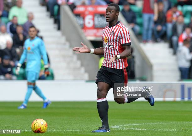 Lamine Kone of Sunderland in action during the pre season friendly between Hibernian and Sunderland at Easter Road on July 9 2017 in Edinburgh...