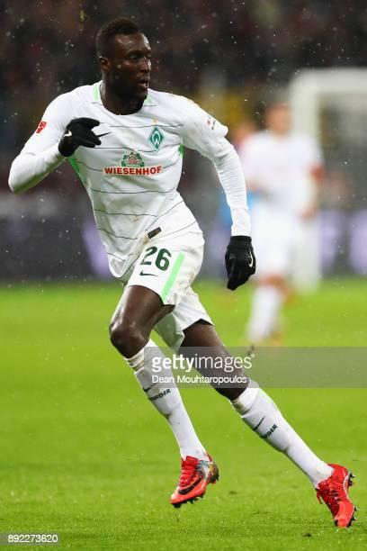 Lamine Sane of Werder Bremen in action during the Bundesliga match between Bayer 04 Leverkusen and SV Werder Bremen at BayArena on December 13 2017...