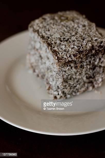 Lamington cake square