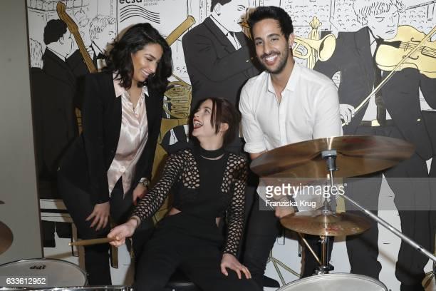 Lamiya Slimani LisaMarie Koroll and Sami Slimani attends Moet Chandon Grand Scores 2017 at Umspannwerk on February 2 2017 in Berlin Germany