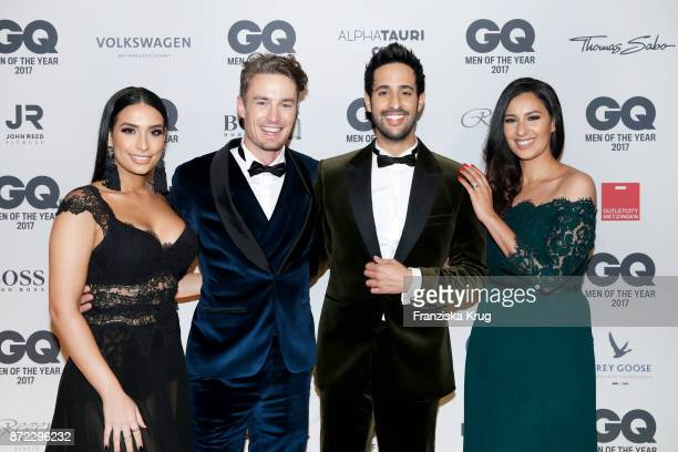Lamiya Slimani Simon Lohmeyer Sami Slimani and Dounia Slimani arrive for the GQ Men of the year Award 2017 at Komische Oper on November 9 2017 in...