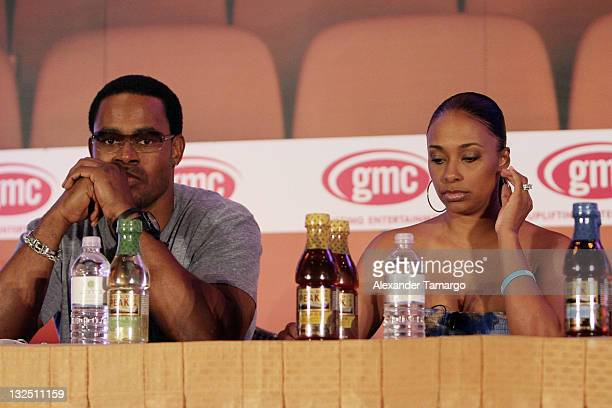 Lamman Rucker and Jazsmin Lewis are seen at the gmc TV Screenplay Competition Table Reading at ABFF at Ritz Carlton South Beach on July 8 2011 in...