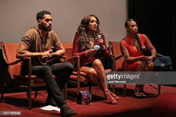 """Lamon Archey, Vivica A. Fox and Tressa Azarel speak during Private Screening Of Vivica A. Fox's Directorial Debut Film """"Through Her Eyes"""" Produced By..."""