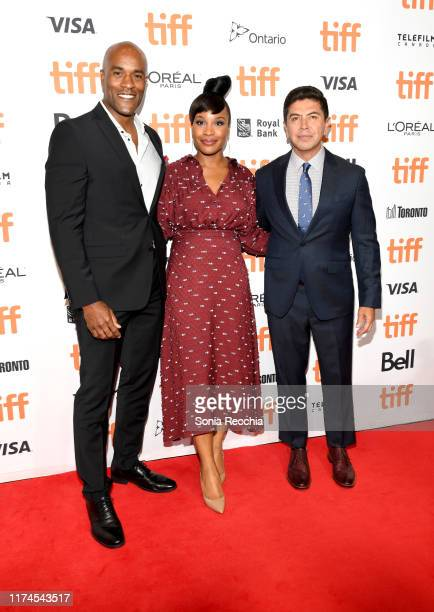 LaMonica Garrett Chinonye Chukwu and Alex Castillo attend the Clemency premiere during the 2019 Toronto International Film Festival at Roy Thomson...