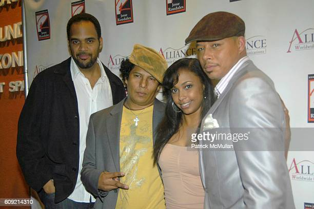 Lamont Peete Jesse Raudales Jazsmin Lewis and Terrence Howard attend Olympic Artist Jesse Raudales Peace for the Children Art Show at Los Angeles on...