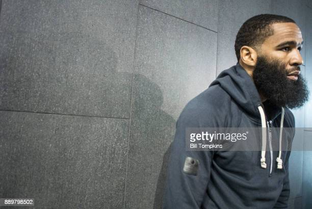 Lamont Peterson speaks to the press during the press conference announcing his upcoming Championship Welterweight fight with Errol Spence Jr in...