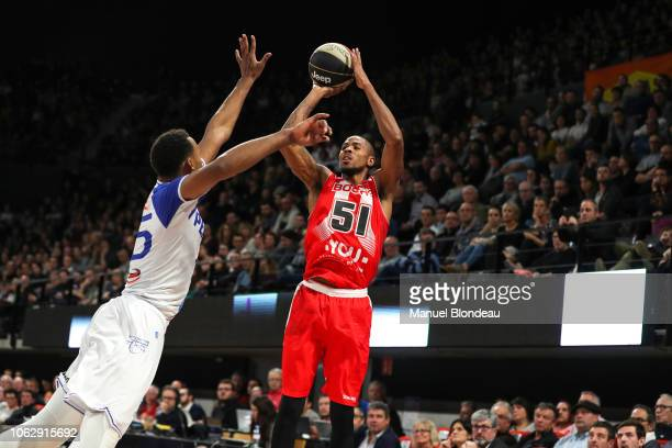 Lamonte Ulmer of Bourg en Bresse during the Jeep Elite match between Boulazac Basket Dordogne v JL Bourg en Bresse on November 17 2018 in Boulazac...