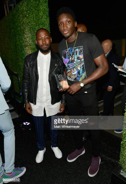 Lamorne Morris and Victor Oladipo attend the 33rd Annual CedarsSinai Sports Spectacular at The Compound on July 15 2018 in Inglewood California