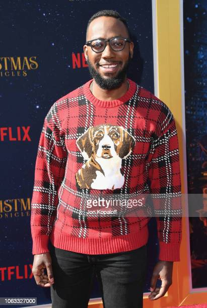 Lamorne Morris attends the premiere of Netflix's The Christmas Chronicles at Fox Bruin Theater on November 18 2018 in Los Angeles California