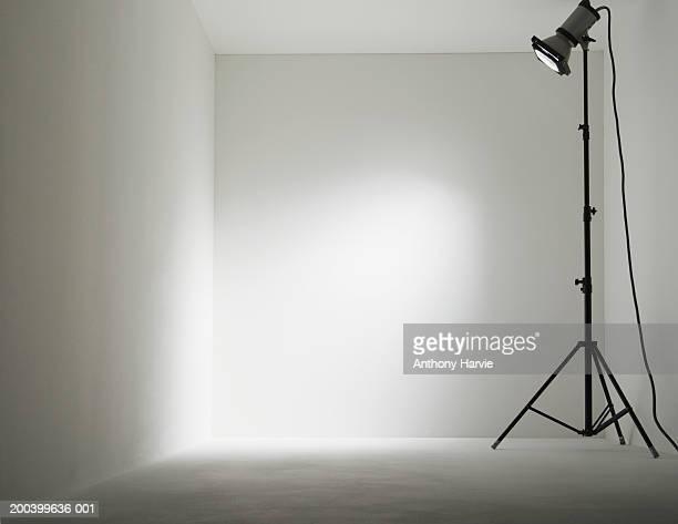 Lamp in white room