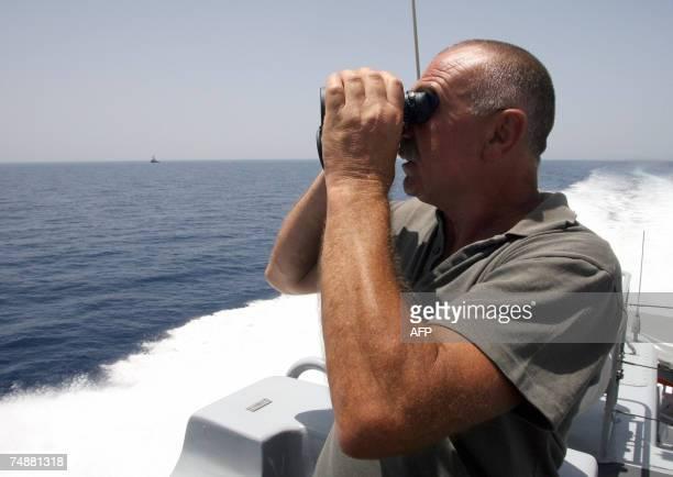 An Italian Guardia di Finanza aboard a fast ship patrols the Mediterrean sea together with a Guardia di Finanza helicopter in the international sea...
