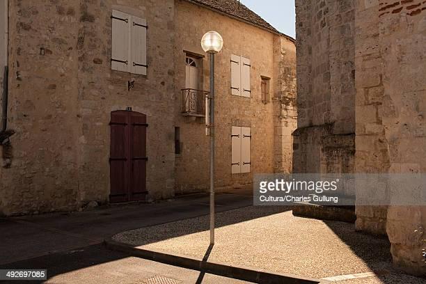 lamppost in village, bordeaux, france - village photos et images de collection