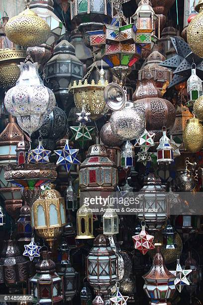 Lamps for sale in the souks of Marrakech