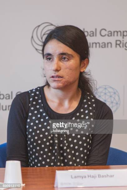 Lamya Haji Bashar attends at the conference presentation at Eiuc at Monastero of San Nicolò on June 14 2017 in Venice Italy The Sakharov Prize...