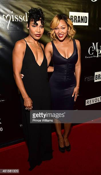 La'Myia Good and Meagan Good at A Toast To Young Hollywood at Sofitel Hotel on June 26 2014 in Los Angeles California