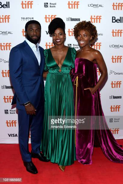 Y'lan Noel Sasheer Zamata and DeWanda Wise attends the The Weekend premiere during 2018 Toronto International Film Festival at Ryerson Theatre on...