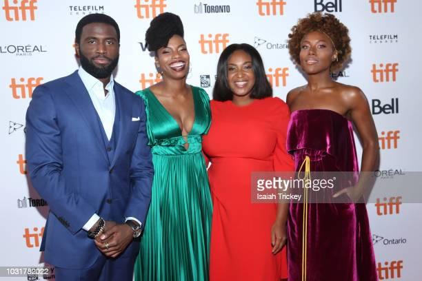 Y'lan Noel Sasheer Zamata Stella Meghie and DeWanda Wise attend the 'The Weekend' premiere during 2018 Toronto International Film Festival at Ryerson...