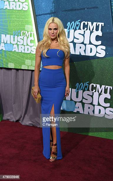 Lana aka CJ Perry attends the 2015 CMT Music awards at the Bridgestone Arena on June 10 2015 in Nashville Tennessee