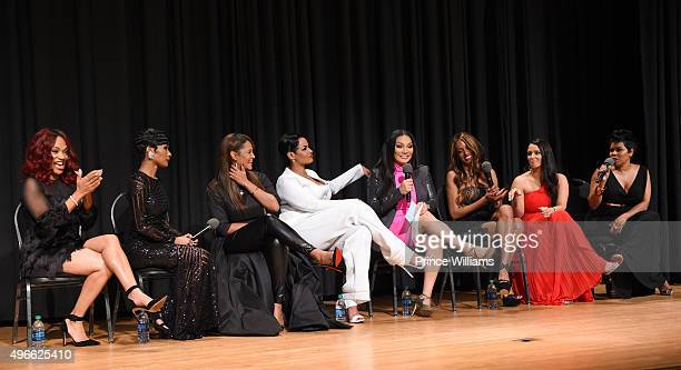 Lana Banks Jae Christian Gwen Moss Tahlia Brown Egypt Sherrod Chrishena Stanley Sarah Lowe and Okevia Wilson attend WE tv Selling It In the ATL...