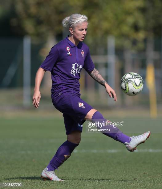 Lana Clelland of Fiorentina Women's FC in action during the Serie A match between AC Milan Women and Fiorentina Women at Campo Sportivo Vismara on...