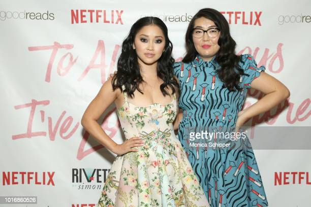 Lana Condor and author Jenny Han attend To All The Boys I've Loved Before New York Screening at AMC Loews Lincoln Square on August 14 2018 in New...