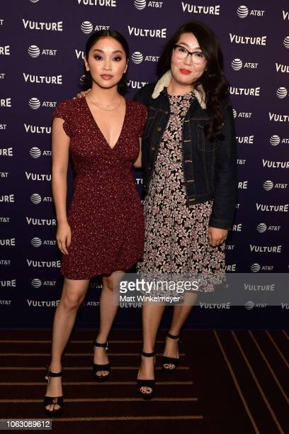 Lana Condor and Jenny Han attend the Vulture Festival presented by ATT at Hollywood Roosevelt Hotel on November 17 2018 in Hollywood California
