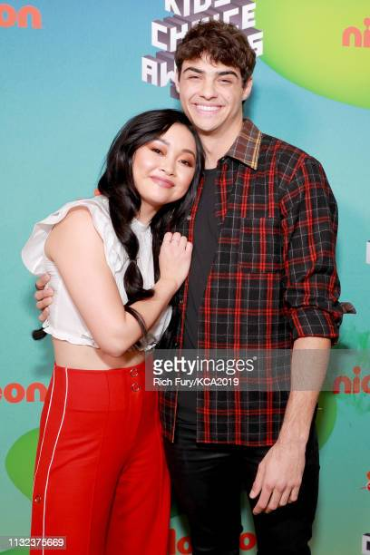 Lana Condor and Noah Centineo attend Nickelodeon's 2019 Kids' Choice Awards at Galen Center on March 23 2019 in Los Angeles California
