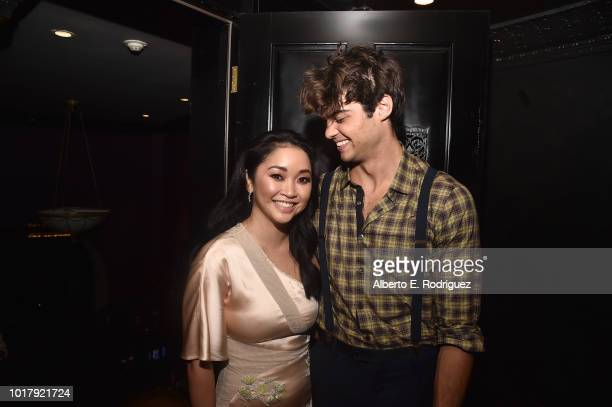 Lana Condor and Noah Centineo attend the after party for a screening of Netflix's To All The Boys I've Loved Before on August 16 2018 in Culver City...