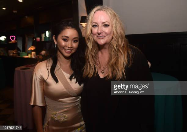 Lana Condor and Susan Johnson attend the after party for a screening of Netflix's 'To All The Boys I've Loved Before' on August 16 2018 in Culver...