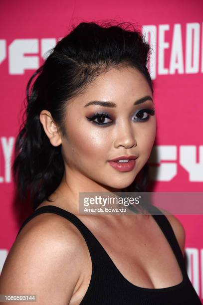 Lana Condor arrives at SYFY's new series Deadly Class premiere screening at The Roxy Theatre on January 03 2019 in West Hollywood California