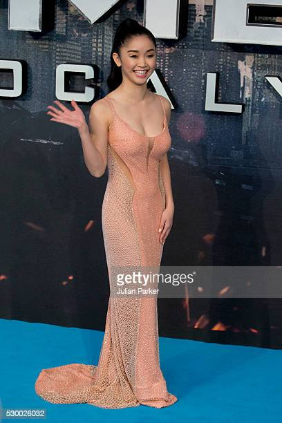 Lana Condor attends a Global Fan Screening of 'XMen Apocalypse' at BFI IMAX on May 9 2016 in London England