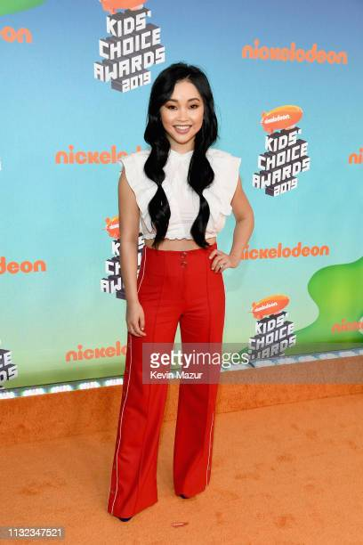 Lana Condor attends Nickelodeon's 2019 Kids' Choice Awards at Galen Center on March 23 2019 in Los Angeles California
