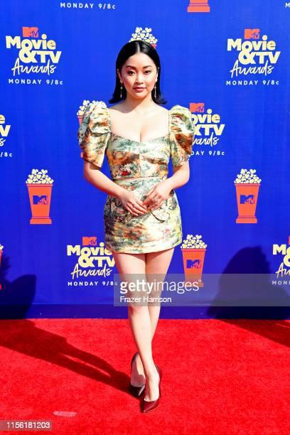 Lana Condor attends the 2019 MTV Movie and TV Awards at Barker Hangar on June 15 2019 in Santa Monica California