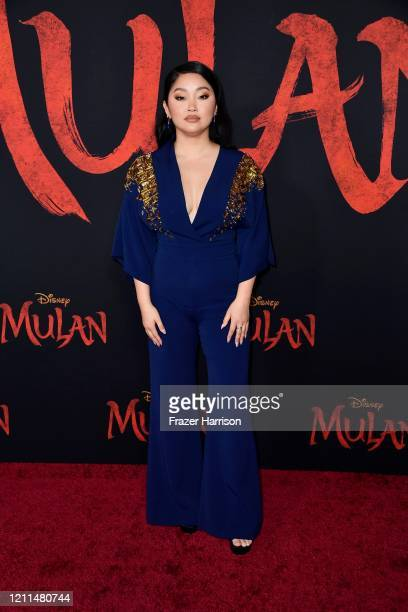 Lana Condor attends the premiere of Disney's Mulan at Dolby Theatre on March 09 2020 in Hollywood California