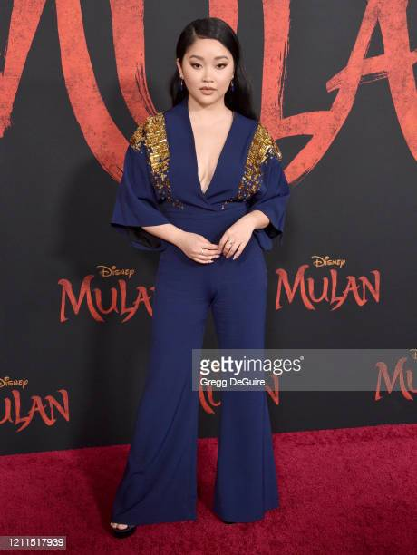 "Lana Condor attends the Premiere Of Disney's ""Mulan"" on March 09, 2020 in Hollywood, California."