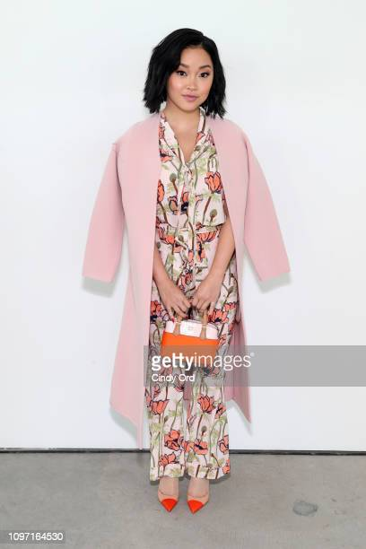 Lana Condor attends the Tory Burch Fall Winter 2019 Fashion Show at Pier 17 on February 10 2019 in New York City