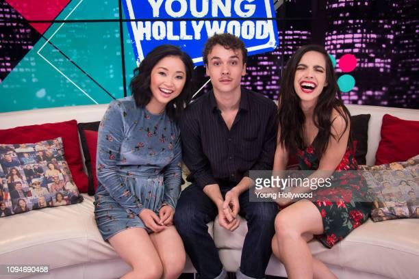 Lana Condor Ben Wadsworth and María Gabriela de Faría visits the Young Hollywood Studio on January 15 2019 in Los Angeles California