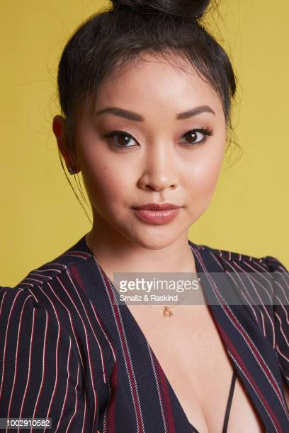 Lana Condor from Syfy's 'Deadly Class' poses for a portrait at the Getty Images Portrait Studio powered by Pizza Hut at San Diego 2018 Comic Con at...