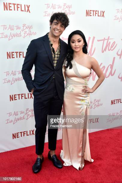 """Lana Condor, Noah Centineo attend the Screening Of Netflix's """"To All The Boys I've Loved Before"""" at Arclight Cinemas Culver City on August 16, 2018..."""