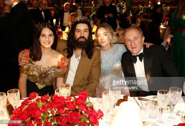Lana Del Rey Alessandro Michele Saoirse Ronan and FrancoisHenri Pinault attend The Fashion Awards 2018 In Partnership With Swarovski at Royal Albert...