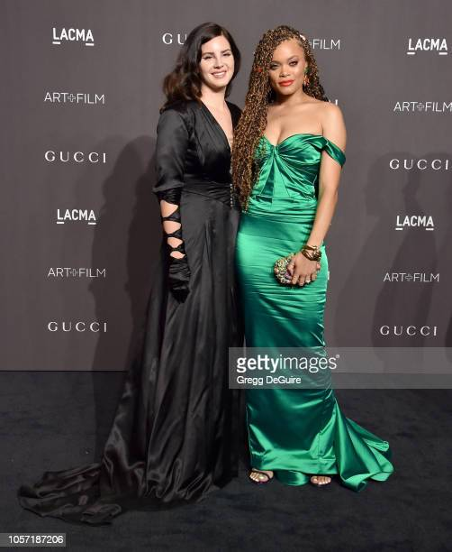 Lana Del Rey and Andra Day arrive at the 2018 LACMA Art Film Gala at LACMA on November 3 2018 in Los Angeles California