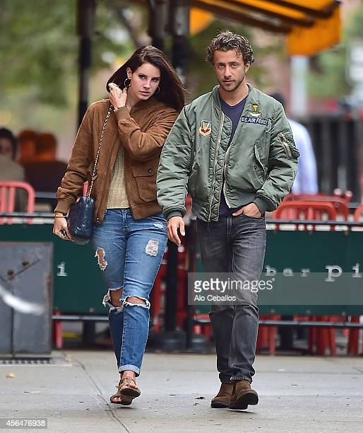 Lana Del Rey and Francesco Carrozzini are seen in Soho on October 1 2014 in New York City