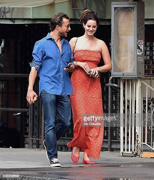 Lana Del Rey and Francesco Carrozzini are seen in Soho on September 29 2014 in New York City